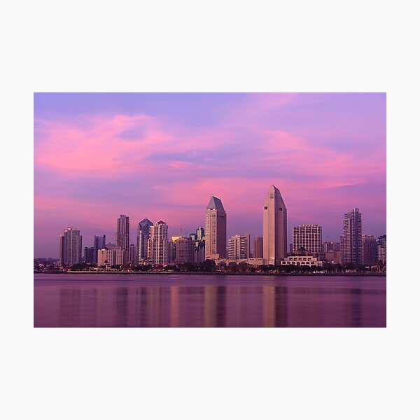 San Diego at Sunset Photographic Print
