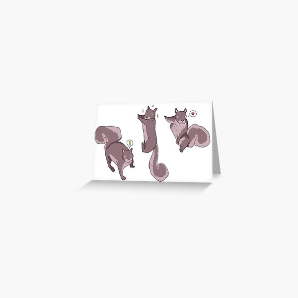 squirrelz Greeting Card