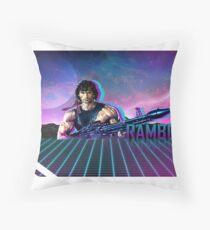 Rambo 80's Future Throw Pillow