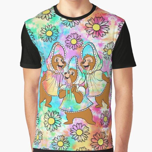 Tie Dye Sun Bonnets Graphic T-Shirt