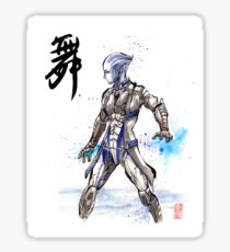 Mass Effect Liara Sumie style with Japanese Calligraphy Sticker