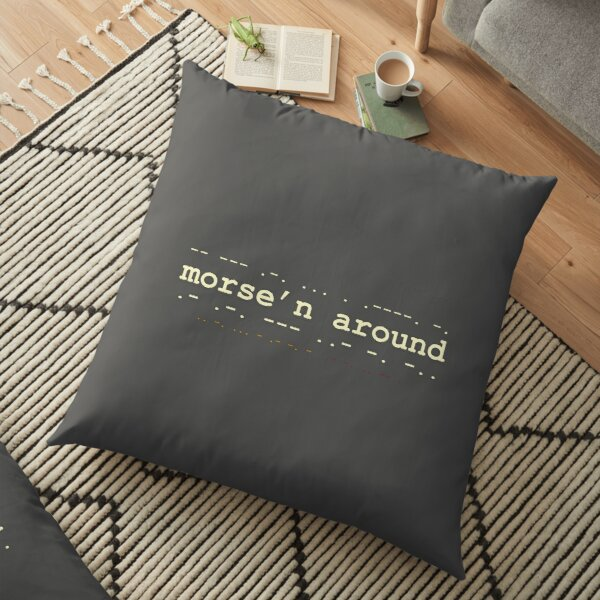 Morse'n Around! Floor Pillow
