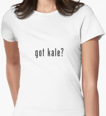 got kale? (black font) Womens Fitted T-Shirt