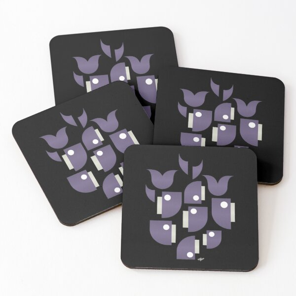 Whales and Whales Coasters (Set of 4)