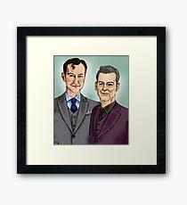 Mycroft & Lestrade Framed Print