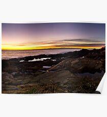 Nerves coast at sunset Poster