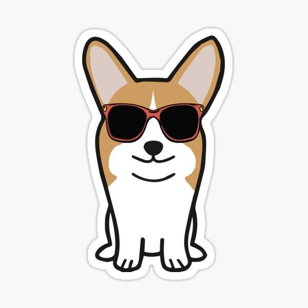 Corgi with Sunglasses Sticker
