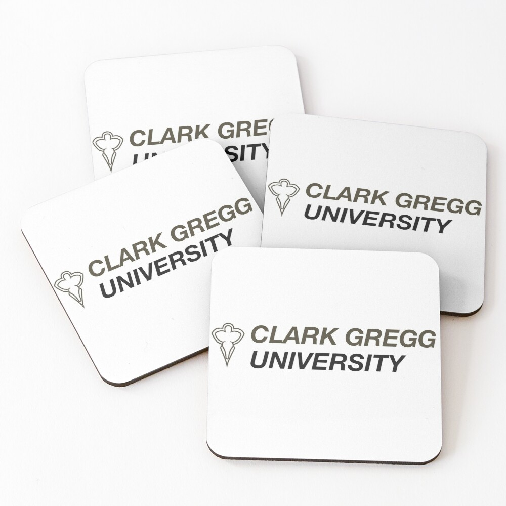 Clark Gregg University Logo Coasters (Set of 4)