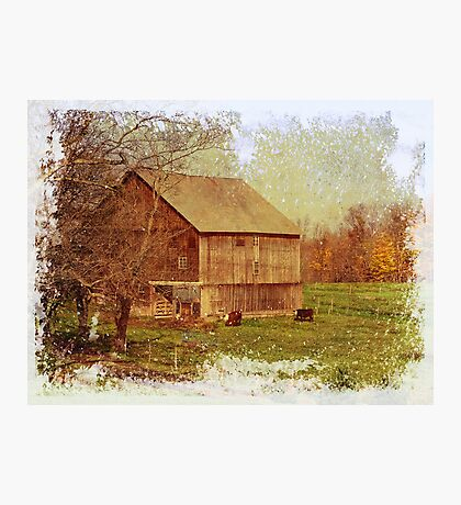 One more barn Photographic Print