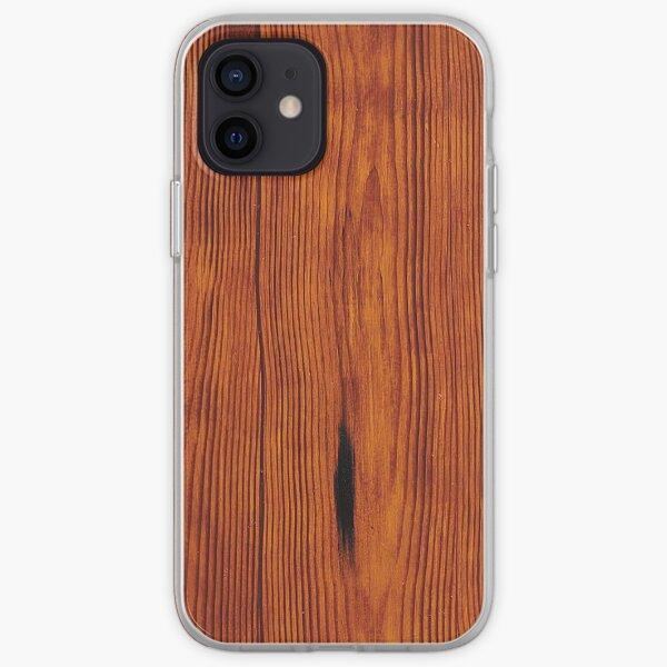 faux Wood Grain iPhone Soft Case