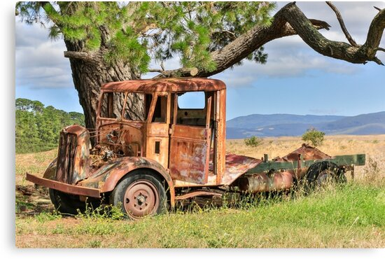 Rusty Old Truck by Pauline Tims