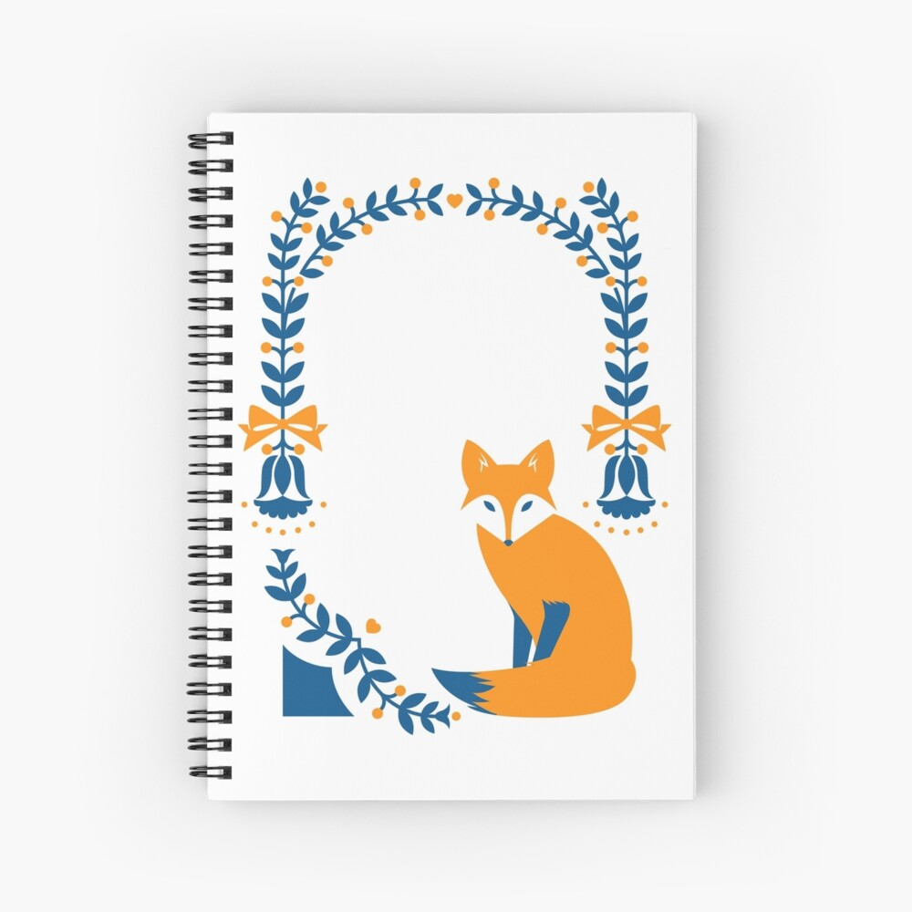 Little Folk Fox Spiral Notebook