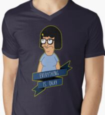 Everything Is Okay - Color Men's V-Neck T-Shirt