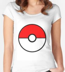 Simplistic Pokeball Women's Fitted Scoop T-Shirt