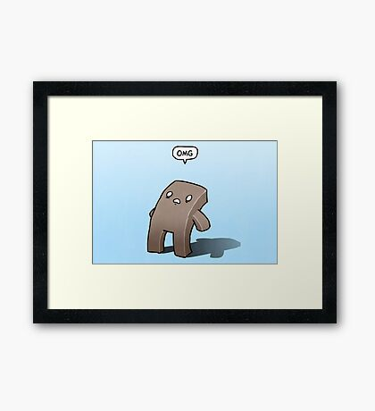 Oh The Humanity Framed Print