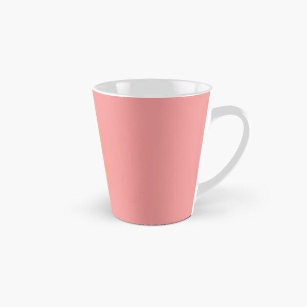 Gold ginkgo leaf design/pink Tall Mug