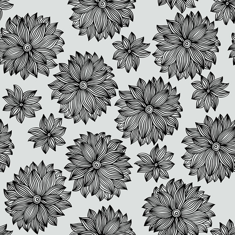 Black And White Flowers By Mlandsberg116 Redbubble
