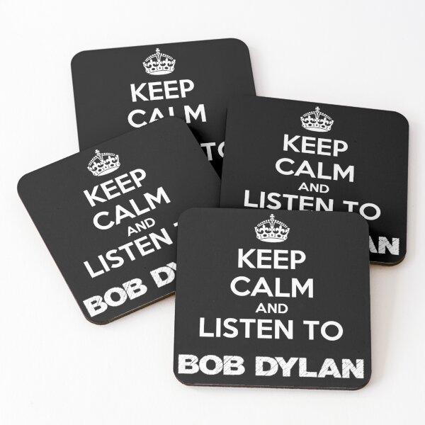 Mantener la calma Dylan (negro) Posavasos (lote de 4)