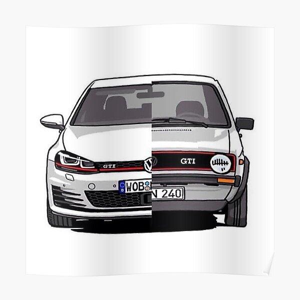 VW Golf GTI Generation Poster