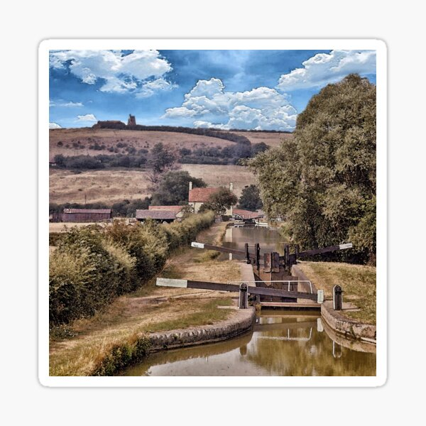 Oxford Canal at Napton on the Hill Sticker