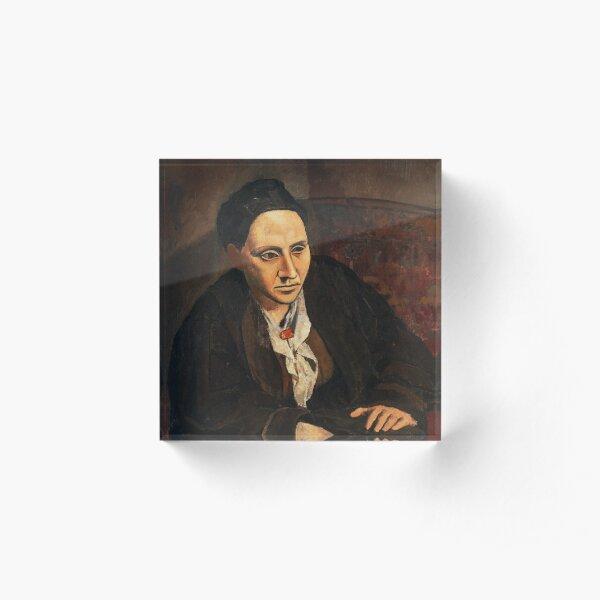 HIGH RESOLUTION Portrait of Gertrude Stein Pablo Picasso Acrylic Block