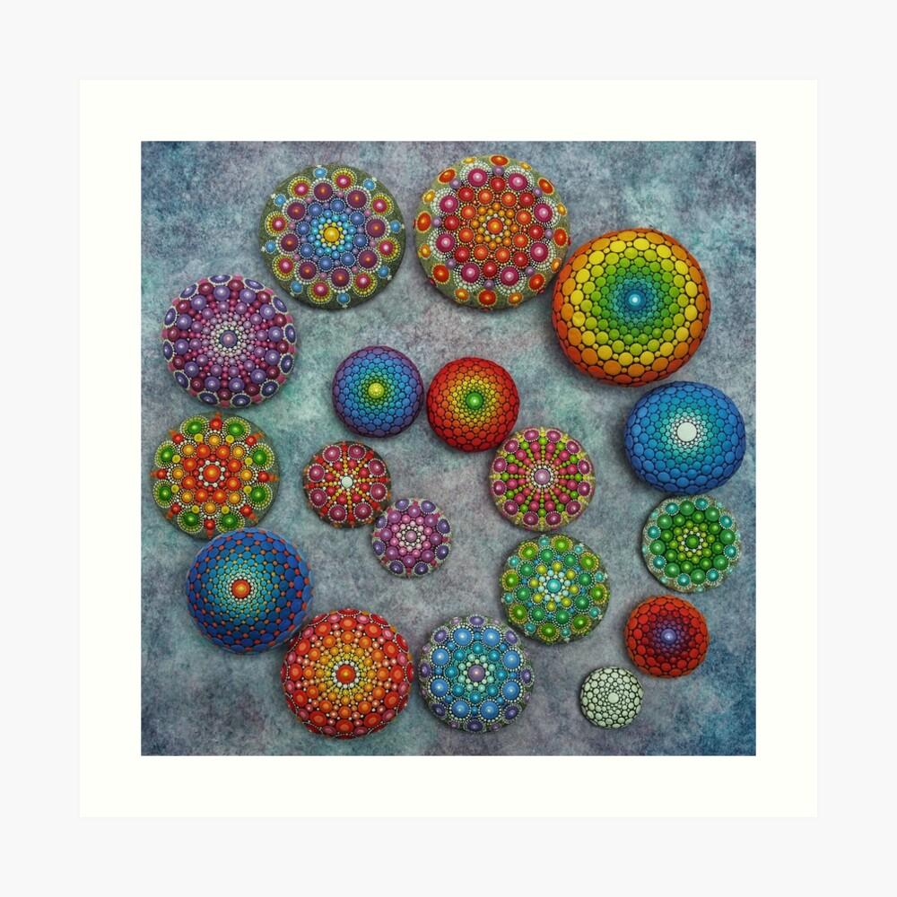Mandala Stone Spiral Art Print