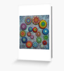 Mandala Stone Spiral Greeting Card