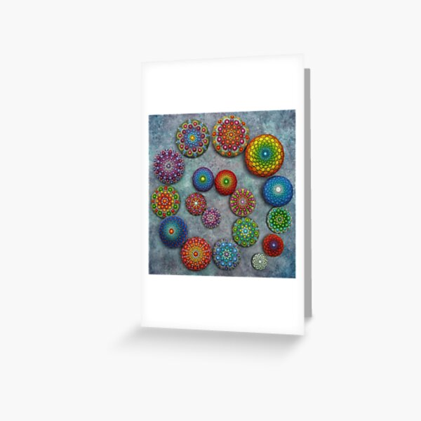 Mandala Stone Spiral Greeting Card