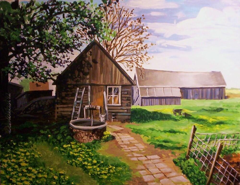 Shaded farmhouse by Dan Wilcox