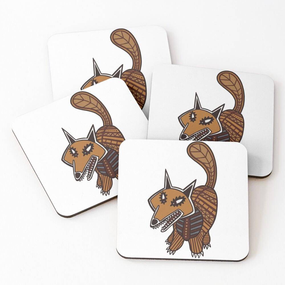 The Fox - Watership Down Fan Art Coasters (Set of 4)