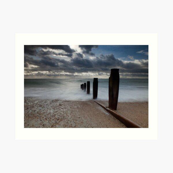 Hayling Island Sea View Art Print