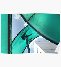 looking up at a water  slide Poster