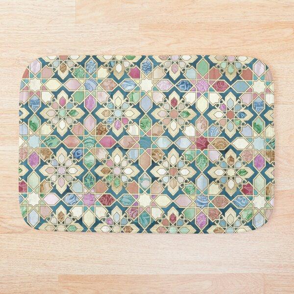 Muted Moroccan Mosaic Tiles Bath Mat
