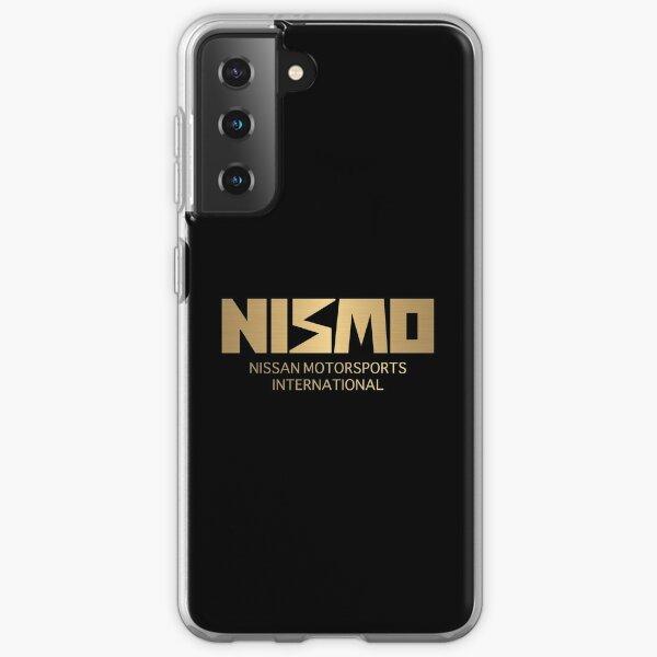 Logo Nismo Nissan Motorsport rétro or et noir Coque souple Samsung Galaxy