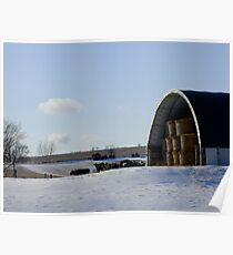 Winter Countryside Poster