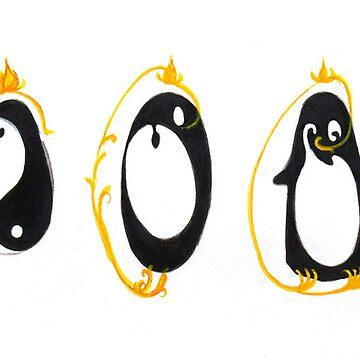 Yin Yang Penguin by JeanRim