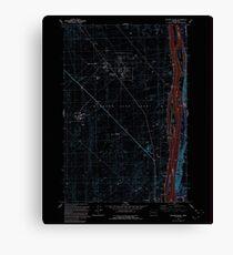 USGS Topo Map Washington State WA Wooden Island 244782 1992 24000 Inverted Canvas Print