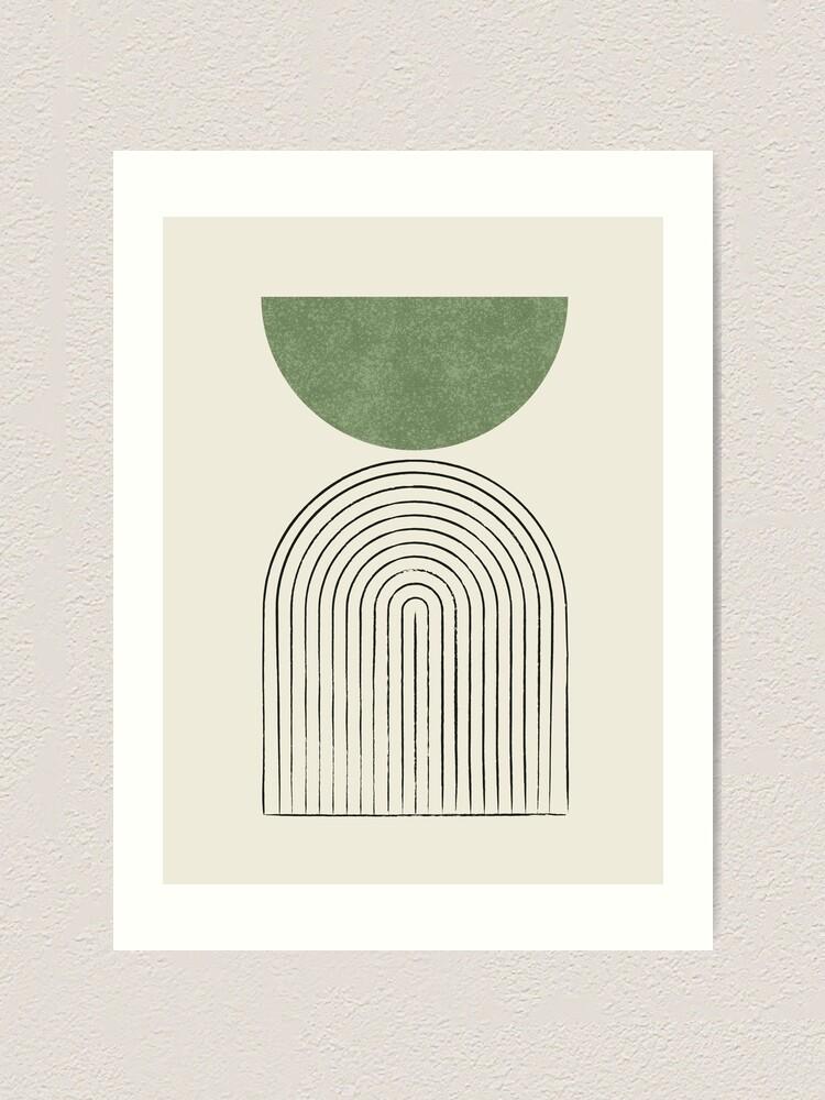 Alternate view of Arch Balance Green - Mid century modern Art Print
