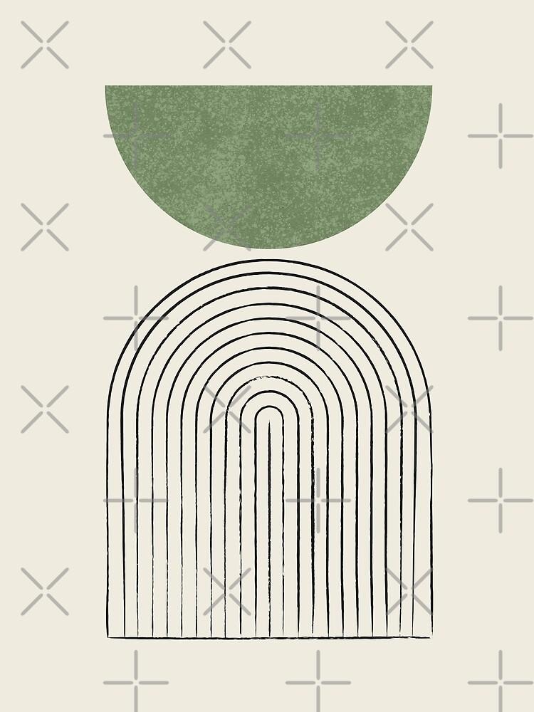 Arch Balance Green - Mid century modern by moonlightprint