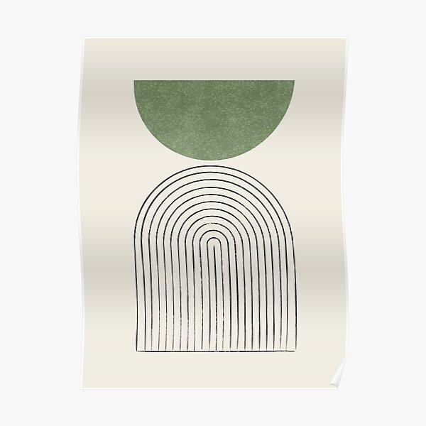 Arch Balance Green - Mid century modern Poster