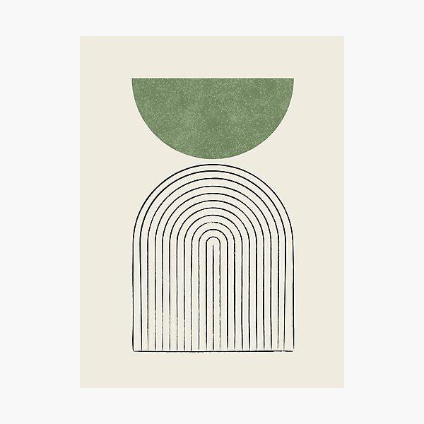 Arch Balance Green - Mid century modern Photographic Print