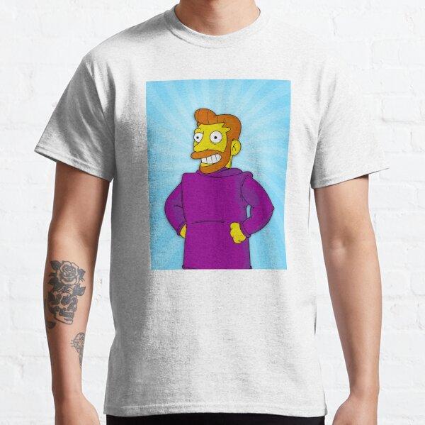 Hank Scorpio, Backwards Coat Blue - Simpsons Classic T-Shirt