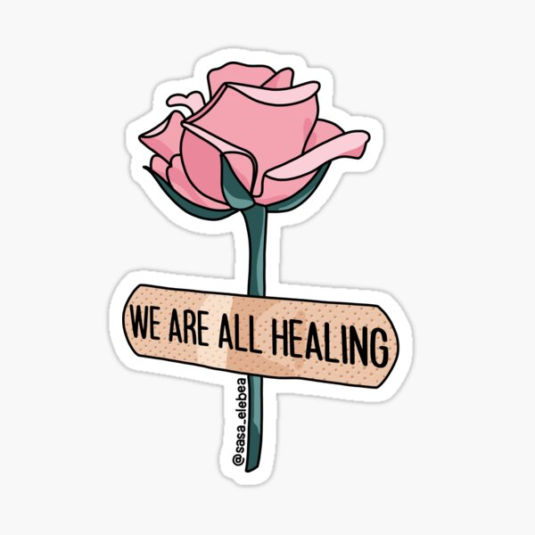 We are all healing by Sasa Elebea Sticker