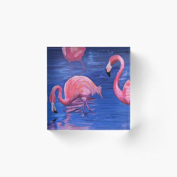 Flamingos Acrylic Block