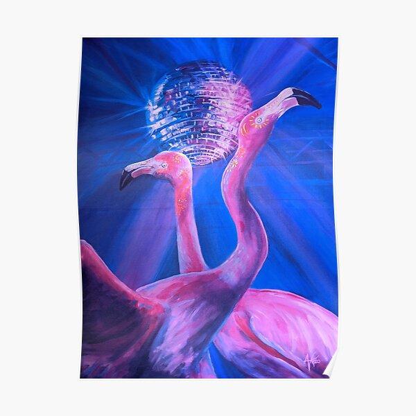 Flamingo Dancers Poster