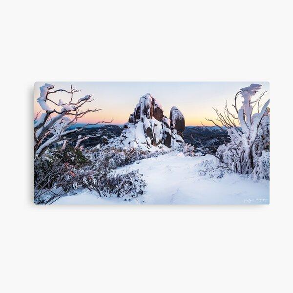 A Snow-covered Sunrise Canvas Print