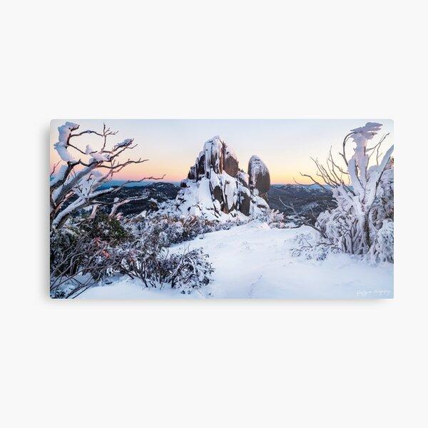 A Snow-covered Sunrise Metal Print