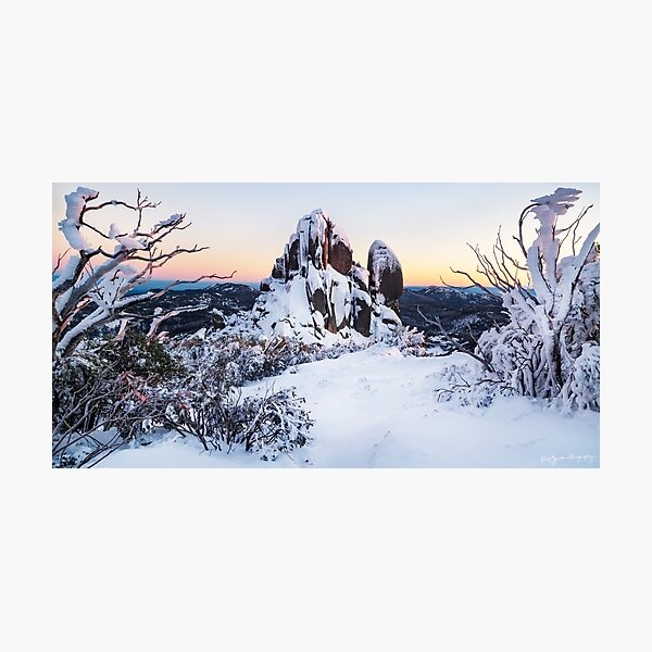 A Snow-covered Sunrise Photographic Print