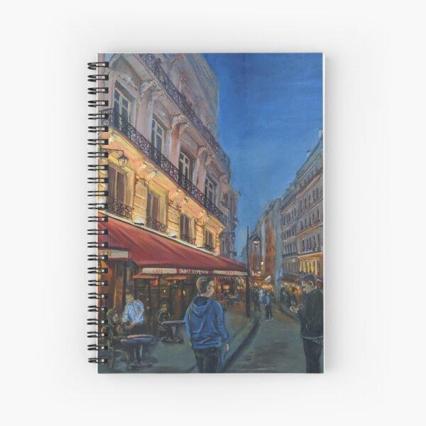 Paris twilight Spiral Notebook