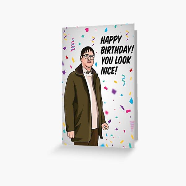 Jim Geburtstagskarte | Freitag Nacht Abendessen Geburtstagskarte | Alles Gute zum Geburtstag! Du siehst schön aus! Grußkarte